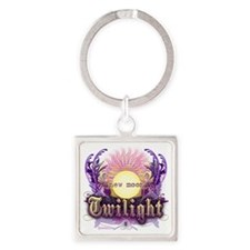 new moon purple crest Square Keychain