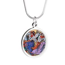 Edgar Degas painting: Russia Silver Round Necklace
