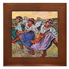 Edgar Degas painting: Russian Dancers Framed Tile