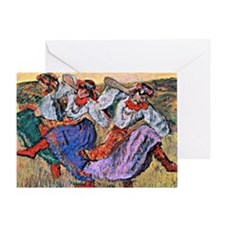 Edgar Degas painting: Russian Dancer Greeting Card