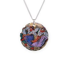 Edgar Degas painting: Russia Necklace Circle Charm