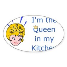 im the queen apron Decal