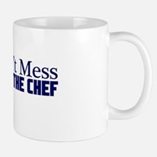 dont mess with the chef blu Mug