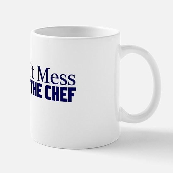 dont mess with the chef blu Mug