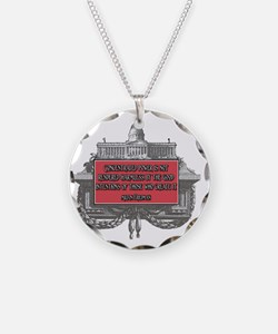Milton Friedman on Concentra Necklace Circle Charm