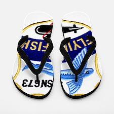 ffish patch transparent Flip Flops