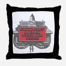 2-Milton Friedman on Government Progr Throw Pillow