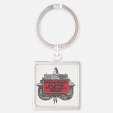 2-Milton Friedman on Government Pr Square Keychain