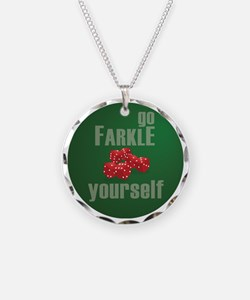 Farkle Yourself 12x12 round Necklace