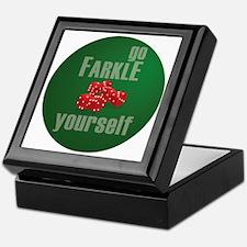 Farkle Yourself 12x12 round Keepsake Box