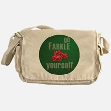 Farkle Yourself 12x12 round Messenger Bag