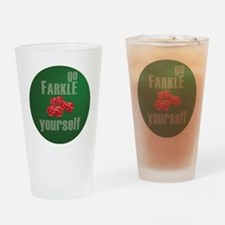 Farkle Yourself 12x12 round Drinking Glass