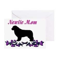 Newfie Mom Greeting Card