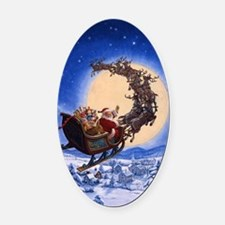 Merry Christmas to All_POSTER Oval Car Magnet