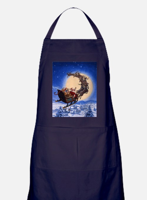 Merry Christmas to All_POSTER Apron (dark)
