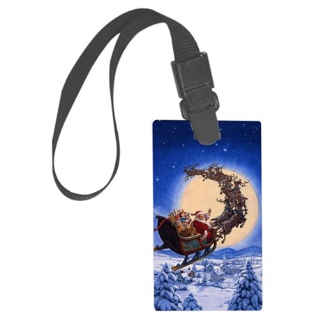Merry Christmas to All_POSTER Large Luggage Tag