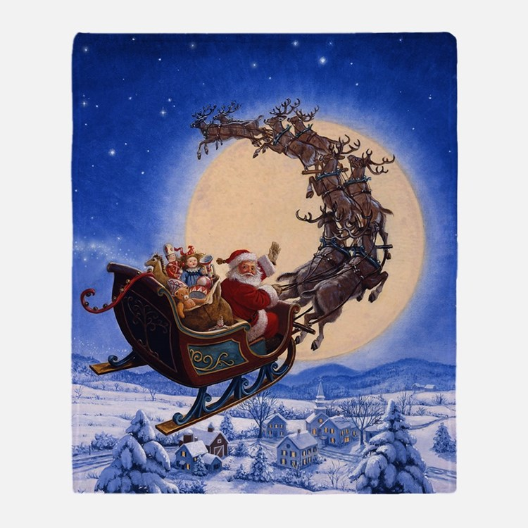 Merry Christmas to All_POSTER Throw Blanket