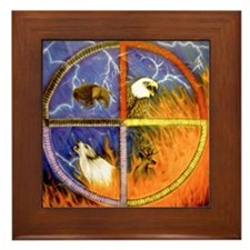 Medicine Wheel Framed Tile