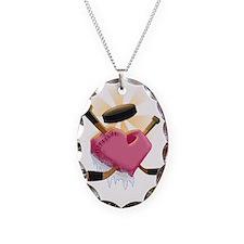 hockey heart shirt  Necklace