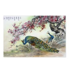 Peacock and Plun Blossoms Postcards (Package of 8)