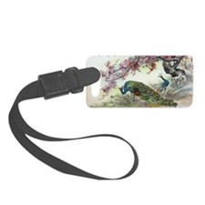 Peacock and Plun Blossoms Luggage Tag