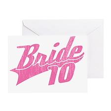 Team Bride 2010-pink Greeting Card