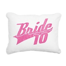 Team Bride 2010-pink Rectangular Canvas Pillow
