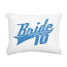 Team Bride 2010-blue Rectangular Canvas Pillow