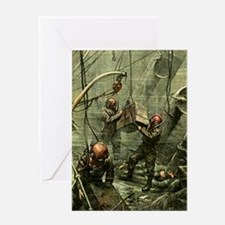 SALVAGE DIVERS Greeting Card