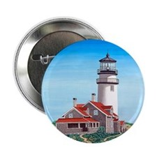 "Cape Cod Lighthouse 2.25"" Button"