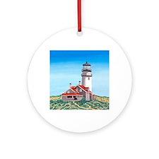 Cape Cod Lighthouse Round Ornament