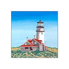 "Cape Cod Lighthouse Square Sticker 3"" x 3"""