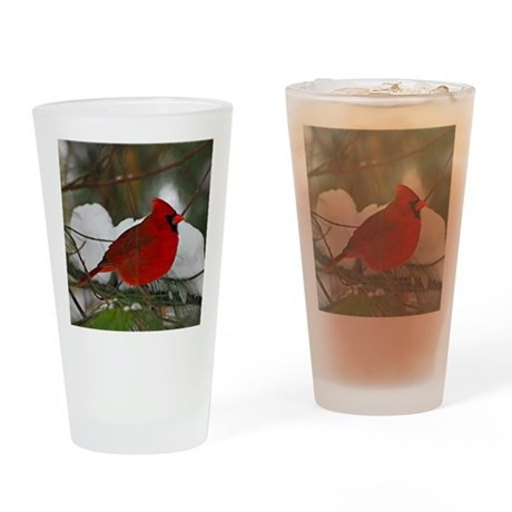 another Christmas Cardinal Drinking Glass