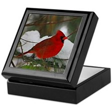 another Christmas Cardinal Keepsake Box