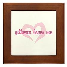 """""""gilberto loves me"""" Framed Tile"""
