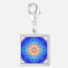 Sun flower-4. Silver Square Charm
