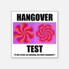 """2-hangover wht Square Sticker 3"""" x 3"""""""