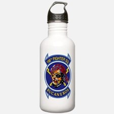 198th_FTR_SQ_BlkX Water Bottle