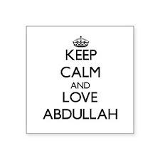Keep Calm and Love Abdullah Sticker