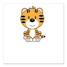 "TigerYearOf2010DkT Square Car Magnet 3"" x 3"""