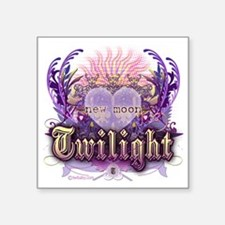 "new moon chantilly heart Square Sticker 3"" x 3"""