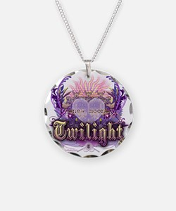 new moon chantilly heart Necklace