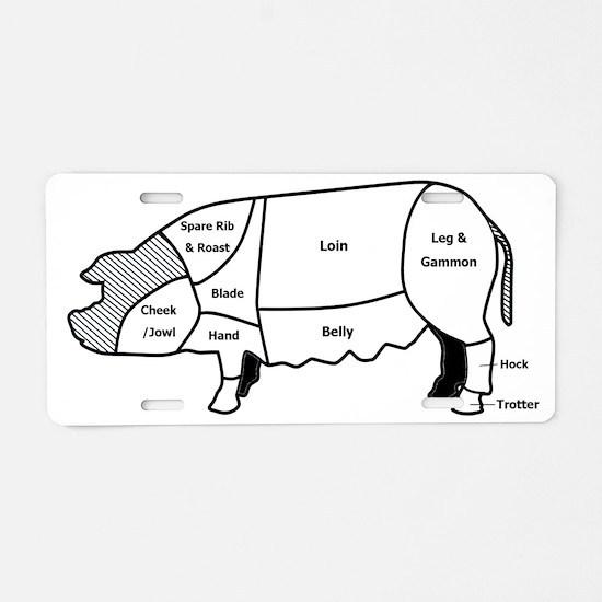 pig diagram1 Aluminum License Plate