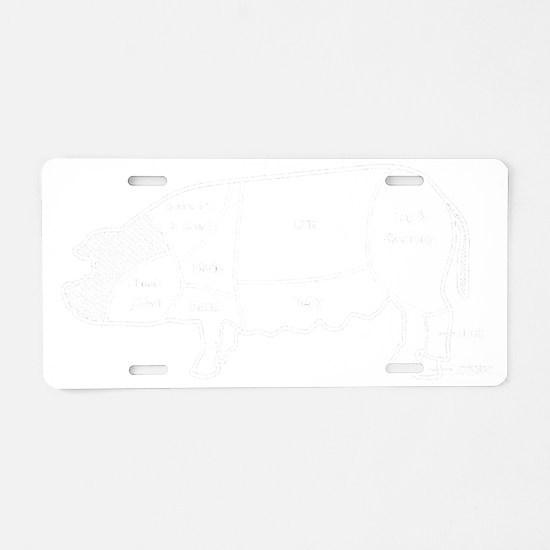 pig diagram1 invert Aluminum License Plate