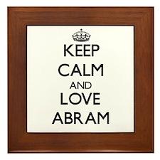 Keep Calm and Love Abram Framed Tile