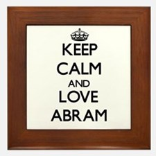 Keep Calm and Love Abram Framed Tile