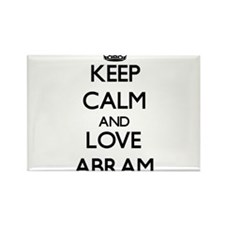 Keep Calm and Love Abram Magnets