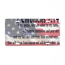 2chronicles 714 Aluminum License Plate