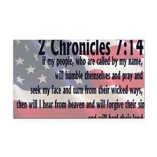 2chronicles 714 Rectangle Car Magnet