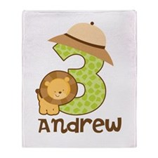 Personalized 3rd Birthday Throw Blanket